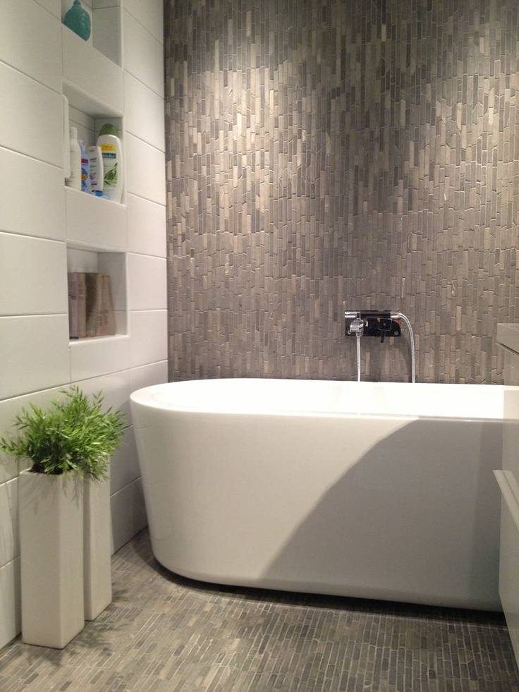 Detail from our master bathroom - tub from Westerberg, faucet from Tapwell, tile from Hero Kakel