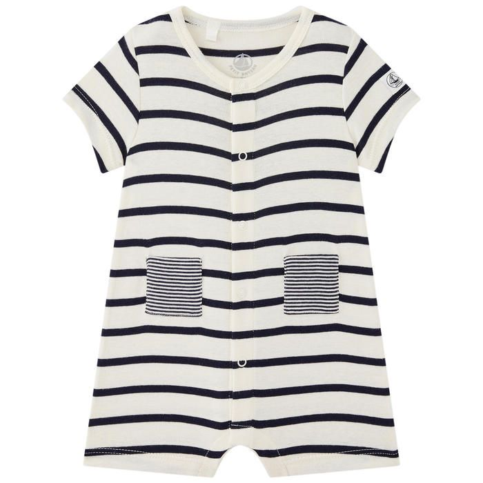 Petit Bateau Striped Dress with Bow Navy//White-24 Months Baby
