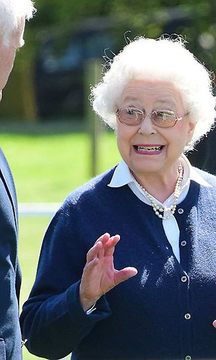 The Queen dresses down for an informal occasion