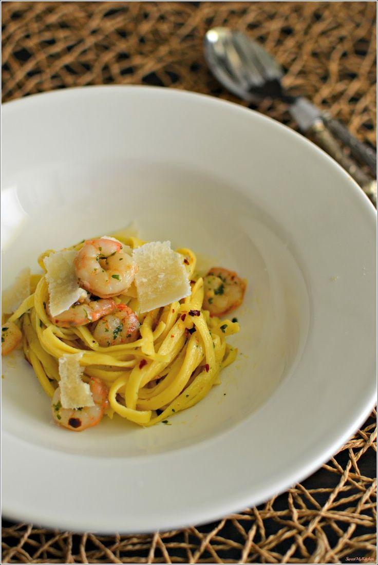 Sweet my Kitchen: Fettuccine de camarão