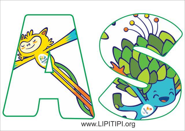 Letras decoradas para montagem de painel Rio 2016