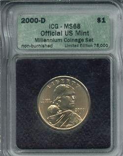 The 2000-D Burnished Sacagawea Dollar