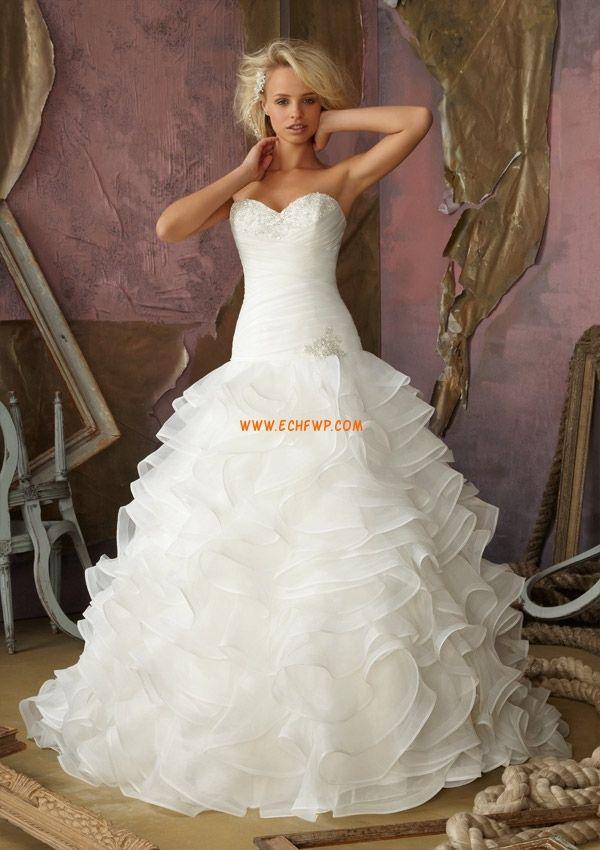 Drobné Okouzlijící & dramatický Jaro Svatební šaty 2014