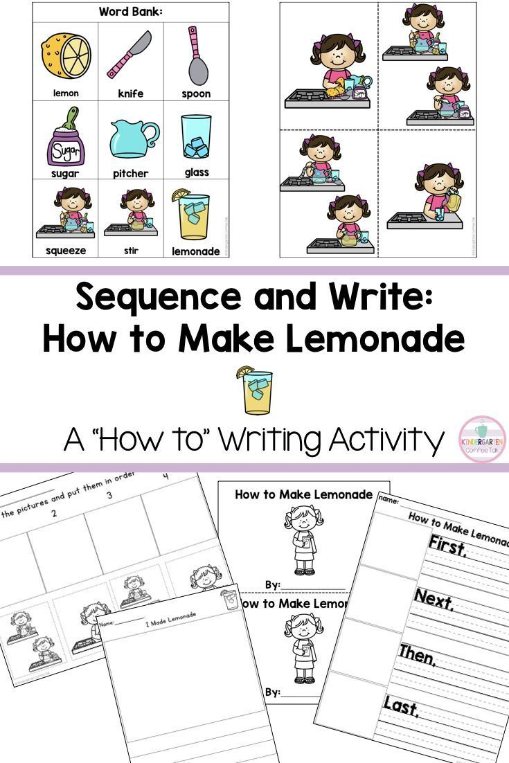 A Writing And Sequencing Activity For Kindergarten How To Make Lemonade How To Make Lemonade Interactive Writing Kindergarten Writing [ 1102 x 735 Pixel ]