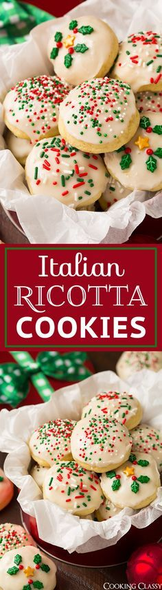 Italian Ricotta Cookies are a holiday must! They're a deliciously soft, glaze covered cookie with a hint of lemon. So good you can never stop at just one!                                                                                                                                                                                 Plus