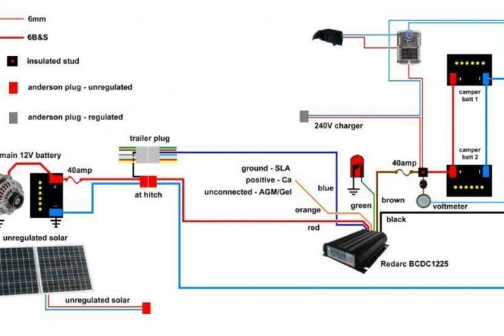 Image result for 12v camper trailer wiring diagram | baycas | Camper trailers, Trailer wiring