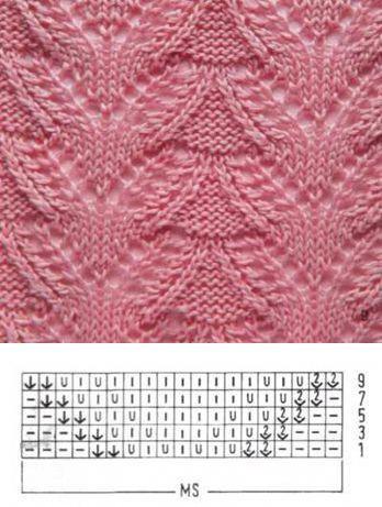 Узор для вязания № 1537 | Схемы. СПИЦЫ | Постила