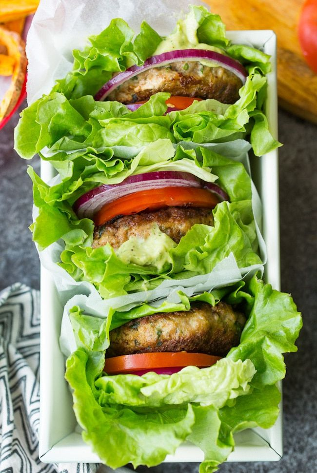 Paleo Turkey Burgers with Spinach