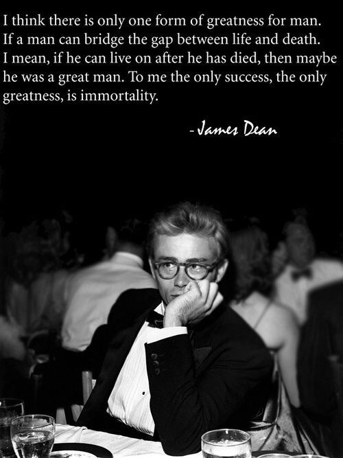 james dean and quote image