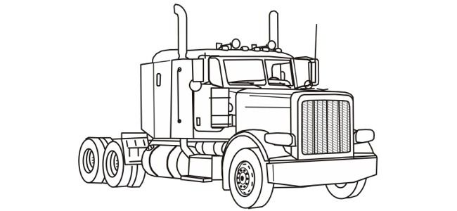 Semi Truck coloring pages free printable Holidays for
