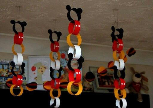 Mickey mouse decoration. Paper chain                                                                                                                                                      More