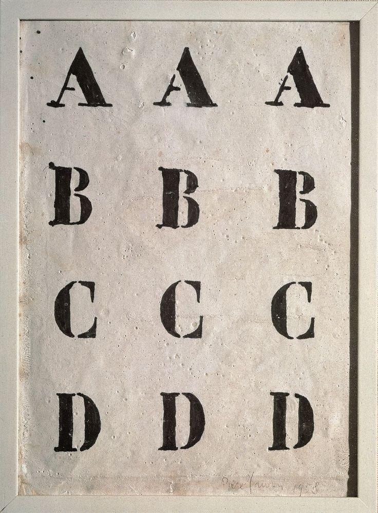 Piero Manzoni - Alfabeto, 1958