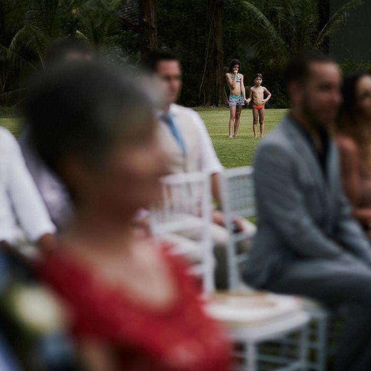 When some kids wander over from the pool to check out your wedding ceremony...Eric Ronald / Melbourne / Australia / Destination Wedding Photography