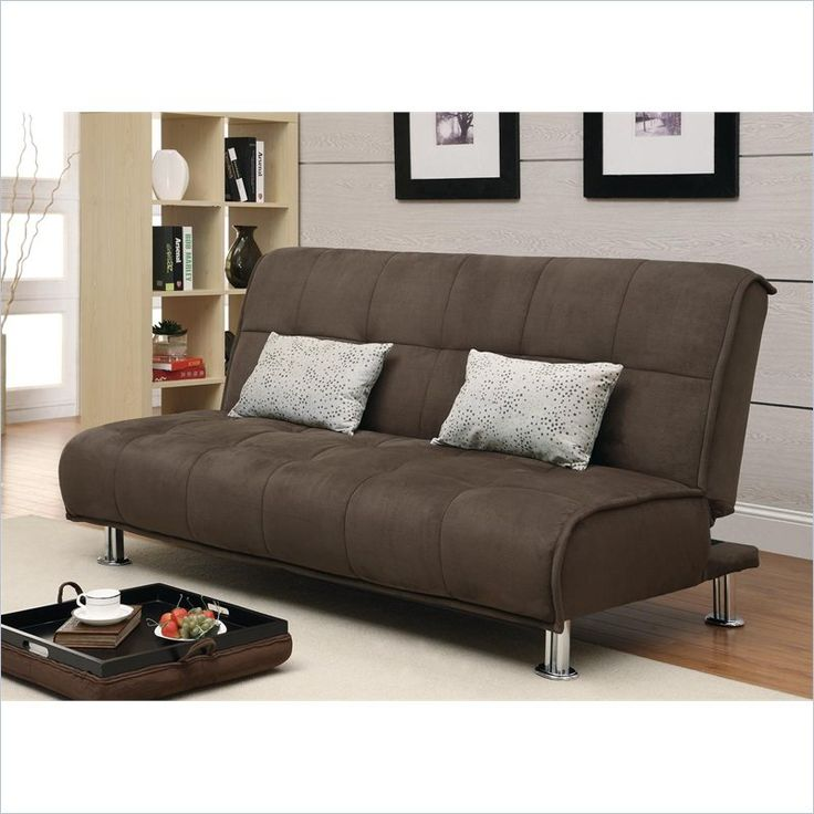 Sofa Mart Coaster Transitional Styled Sleeper Sofa and Chaise in Brown