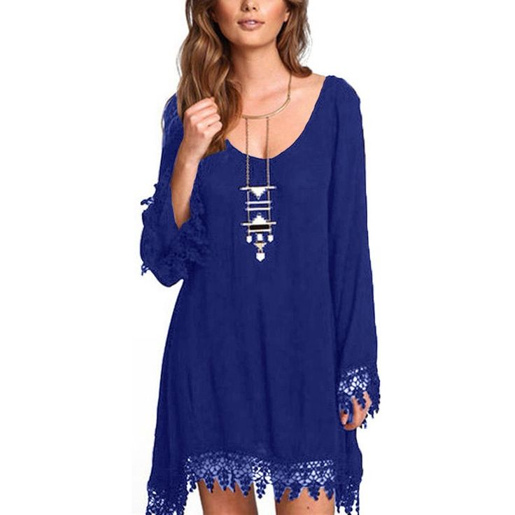 Gender: Women Waistline: Natural Decoration: Lace Sleeve Style: Flare Sleeve Pattern Type: Patchwork Style: Beach Material: Cotton,Rayon,Lace Season: Summer Dresses Length: Above Knee, Mini Neckline:                                                                                                                                                      More