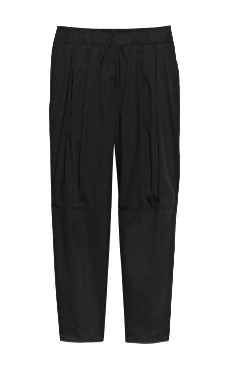 Shop Cotton Twill Wide Cut Trouser With Pleated Waistband by Alexander Wang for Preorder on Moda Operandi