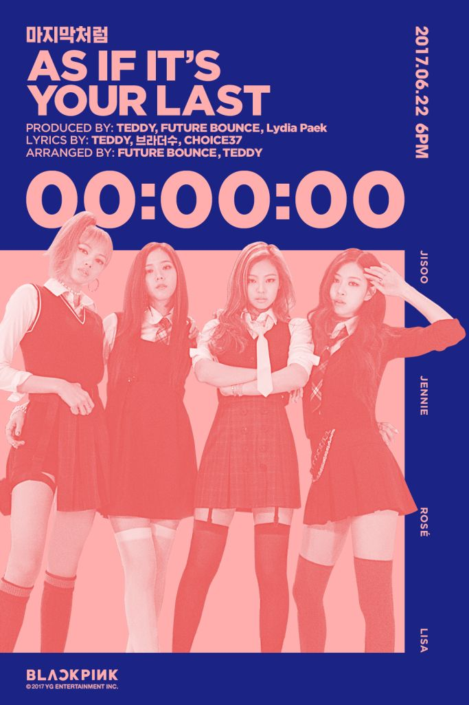 Official 160622 Blackpink As If It S Your Last Counter