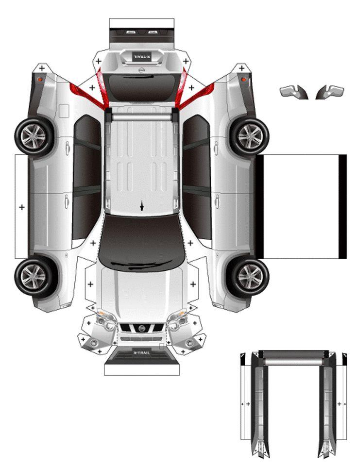 Paper Craft Car Model Nissan ダンボールアート ペーパークラフト ダンボール