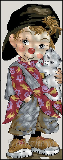 Point de croix : ❤️*❤️ cross stitch.. clown around2