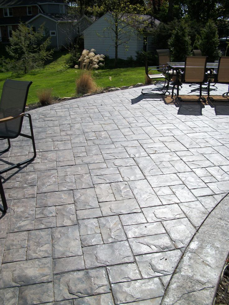 Concreations By Fordson    Ashler Slate Stamped Concrete Patio