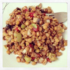 La dieta ALEA - blog de nutrición y dietética, trucos para adelgazar, recetas para adelgazar: Ensalada de lentejas parisina