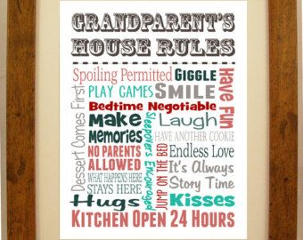grandparents house rules – Etsy UK