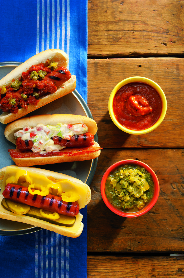 Grilled Hot Dogs 3 Ways!