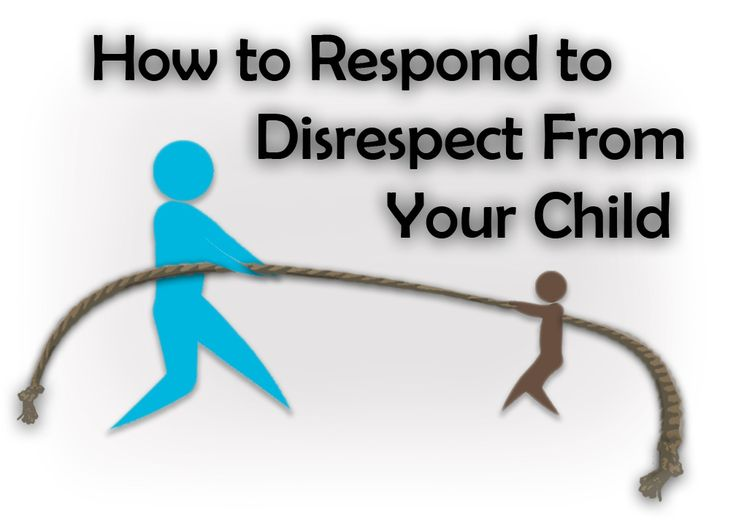 Responding to Disrespect from your Child - read someday