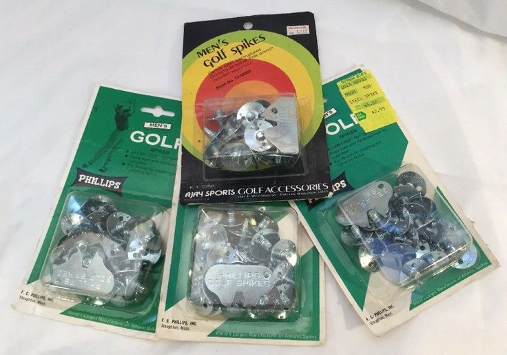 NEW In Package Vintage Phillips Detachable Golf Spikes 3 - 24 packages & Ajay pk #Phillips