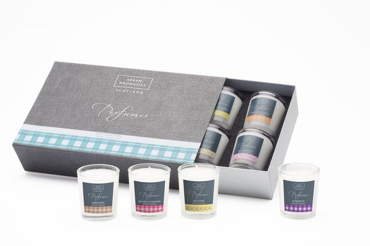Arran Aromatics Perfumer The Collection, mini travel candles.