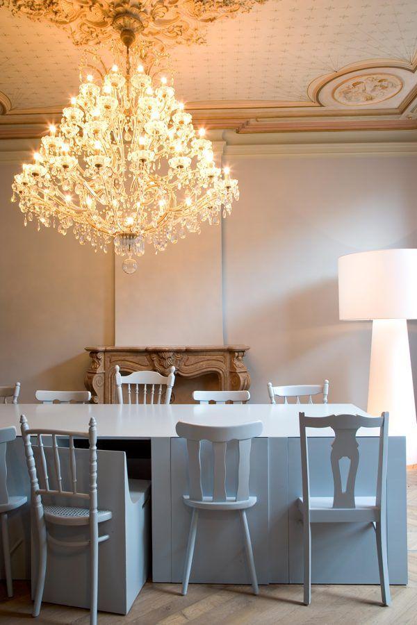 Love this idea...°blauwe tafel