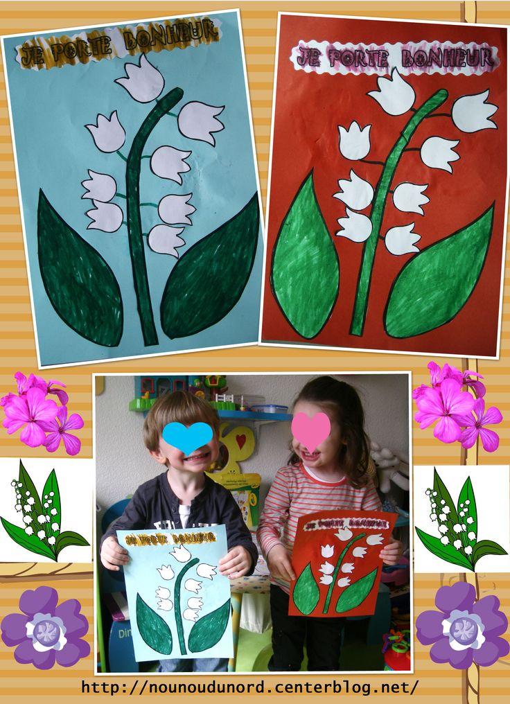 Pour le 1er mai et bien on fait des activités sur le muguet, voici ceux réalisés par Annalisa et Gaspard en coloriage et collage
