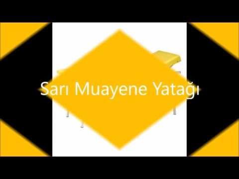 Sarı Muayene Sedyesi