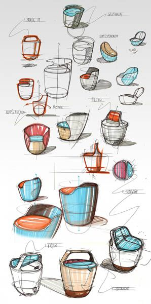 Modern Furniture, Bounce Chair Design by Pedro Gomes