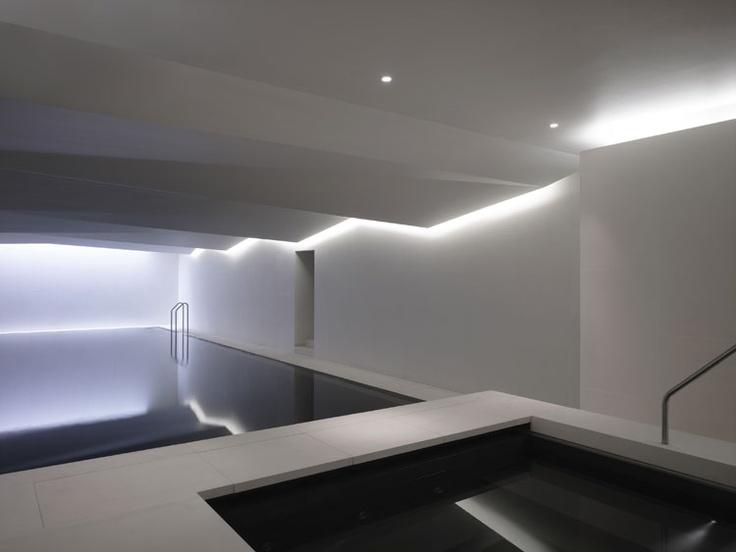 Limerick house spa ireland lighting design international using halo lighting from the perimeter