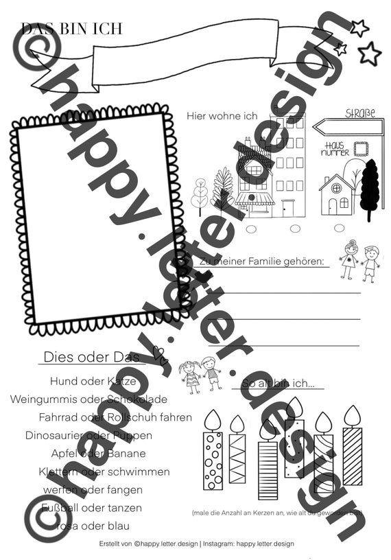 Das Bin Ich Portfolio Vorlage Kindergarten Krippe In 2020 Words Portfolio Word Search Puzzle