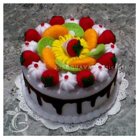 White Chocolate Fruit Cake | Decorated Jar | Toples Flanel