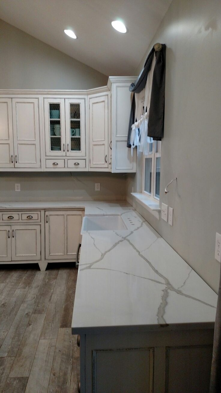 Polar stone Calcutta quartz countertops Love them so pretty  Kitchens  Country kitchen