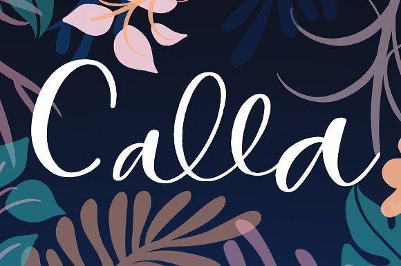 Calla Script font @creativework247