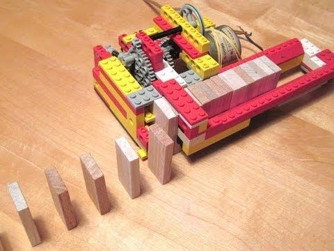 Lego domino row building machine - this is SOOOO cool!!!