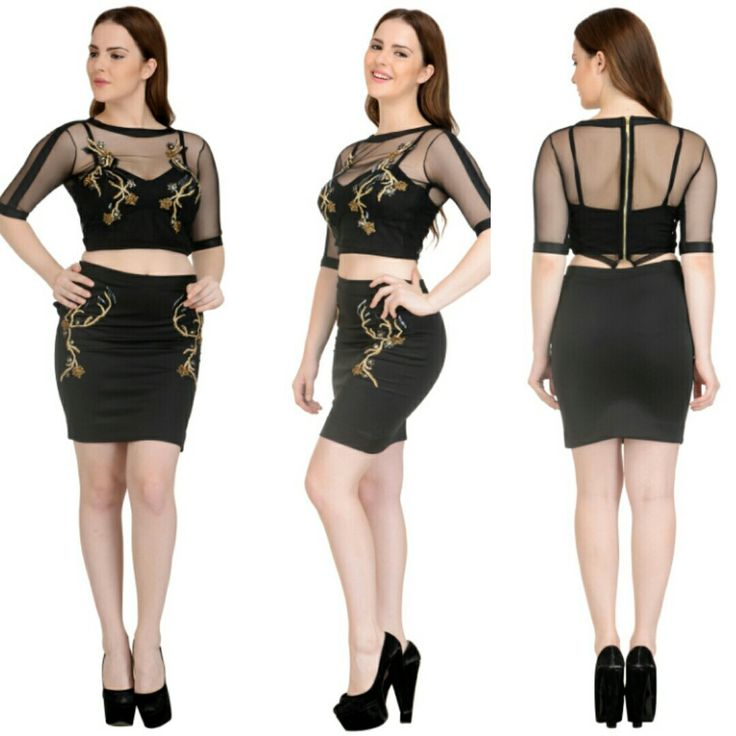 Sheer top and skirt with intricate embroidery and net finish.Now available at a fraction of its original cost. #rentyourfashion #rentfromftheramp #myotr #OffTheRamp For more details and designs please visit offtheramp.com or call 8447158533.