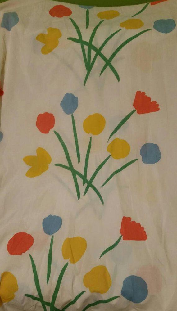 Vintage Marimekko seven flowers full flat sheet Dan by cortigiana