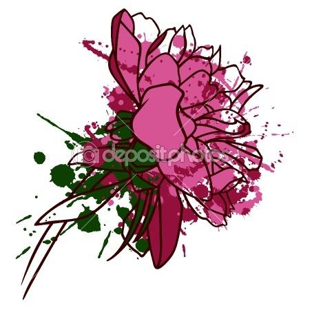 Peony flower — Stock Vector #6104845 | Peony | Pinterest: pinterest.com/pin/428264245785254429