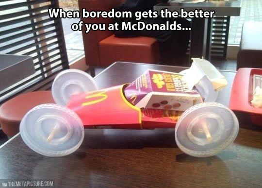 Bored at McDonald's...