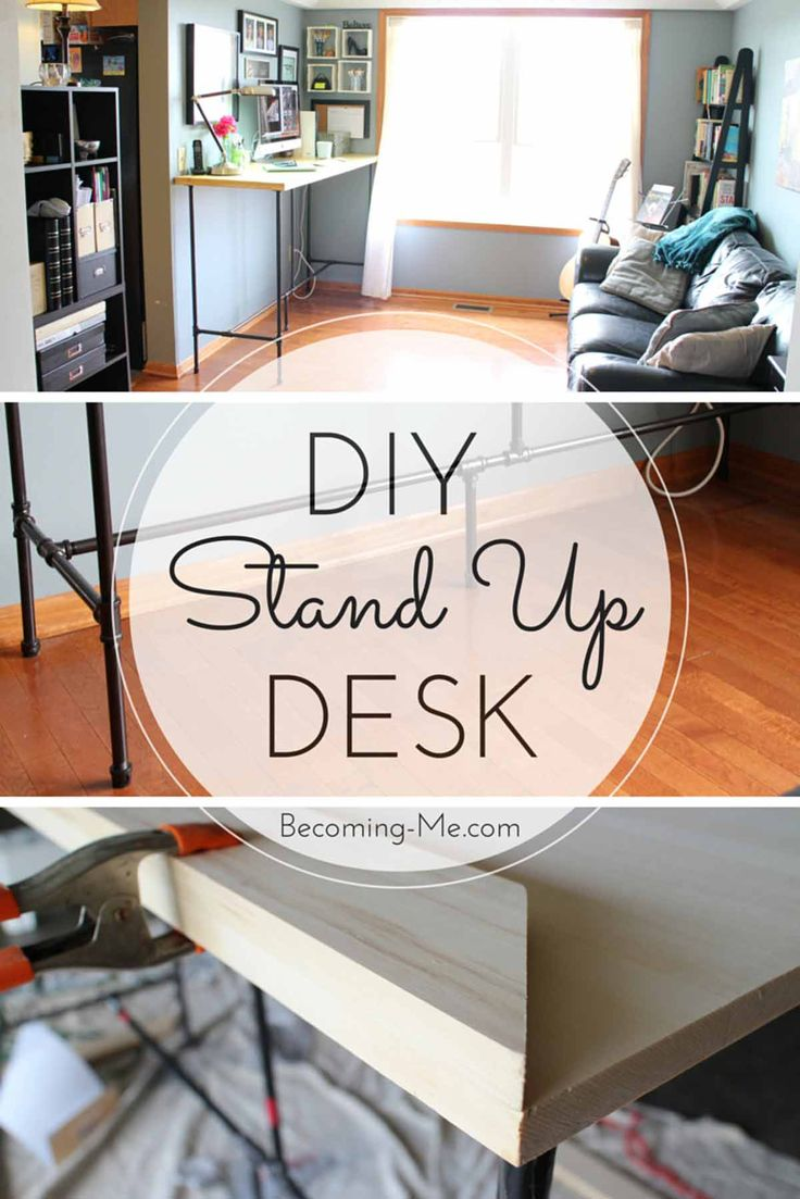 Diy standing desk plans - Minimalist Standing Desk Office Furniture Discover Detailed Plans For A Diy A Standup Desk Made With Plumbing Pipe And Wood