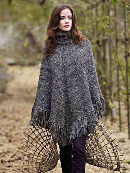 10 best ideen zu strickanleitung poncho auf pinterest. Black Bedroom Furniture Sets. Home Design Ideas