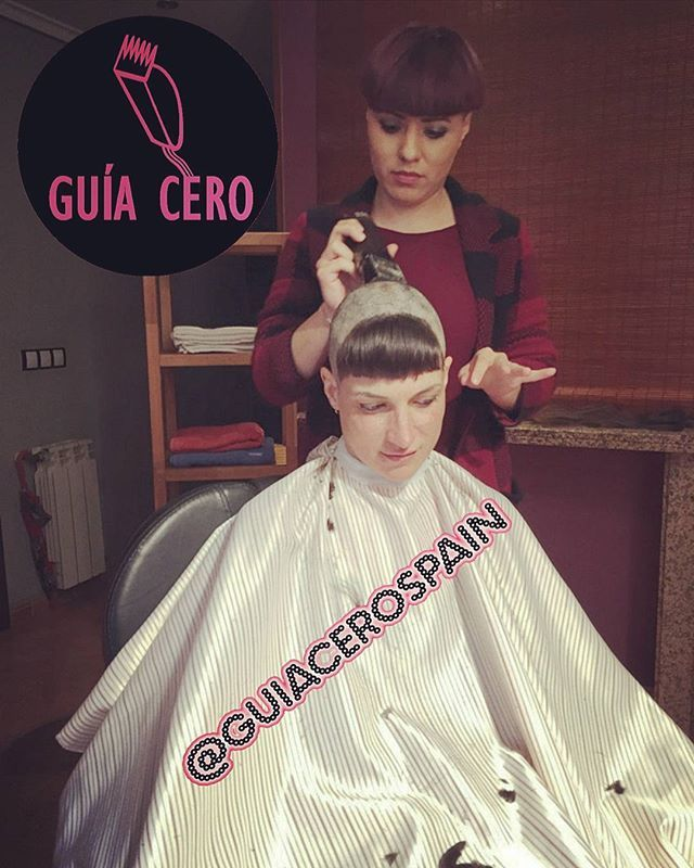 WEBSTA @guiacerospain Cristina New bald haircut!!! Buy now in sellfy.com/guiacero. Intro vídeo in https://youtu.be/ggTElqFe5ag @baldscarmich