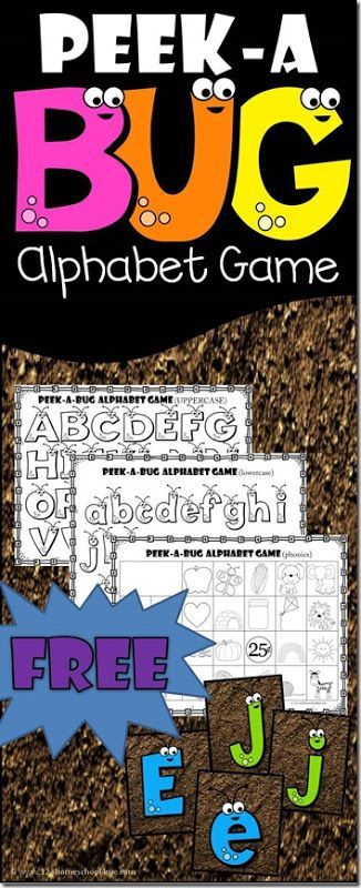 FREE Alphabet Bug Games