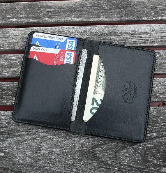 GARNY No.5 Leather Card Case Black Minimalist by garnydesigns