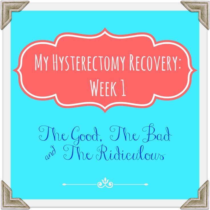 Hysterectomy Recovery: It's not as easy as I thought it would be. (via: Make Your Own Damn Dinner)